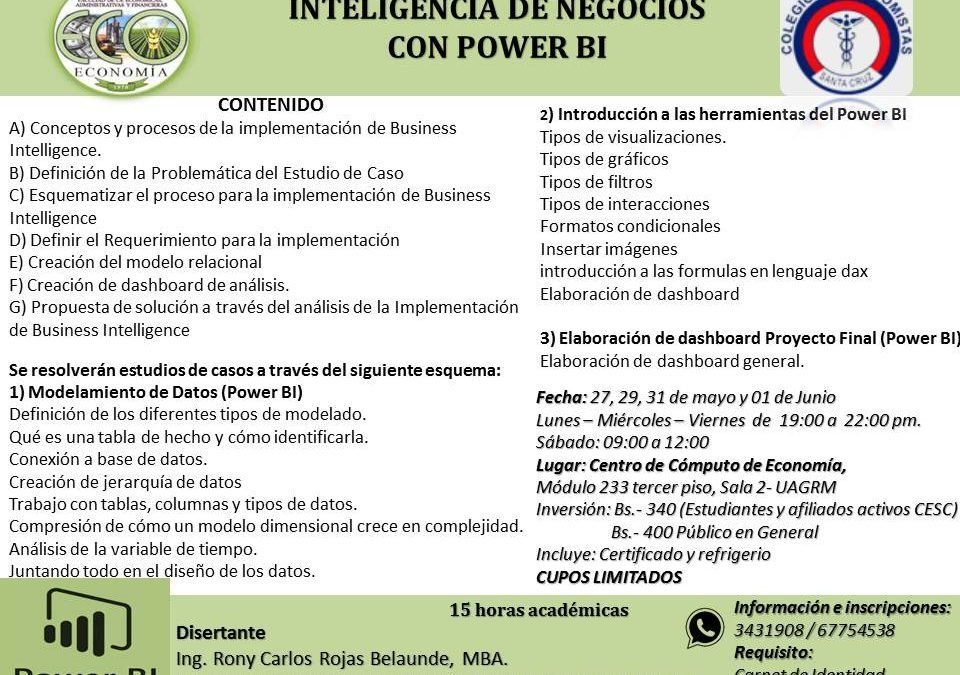 "Curso ""Inteligencia de Negocios con Power Bi"""